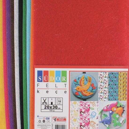 2 paket 10'lu Renkli Keçe