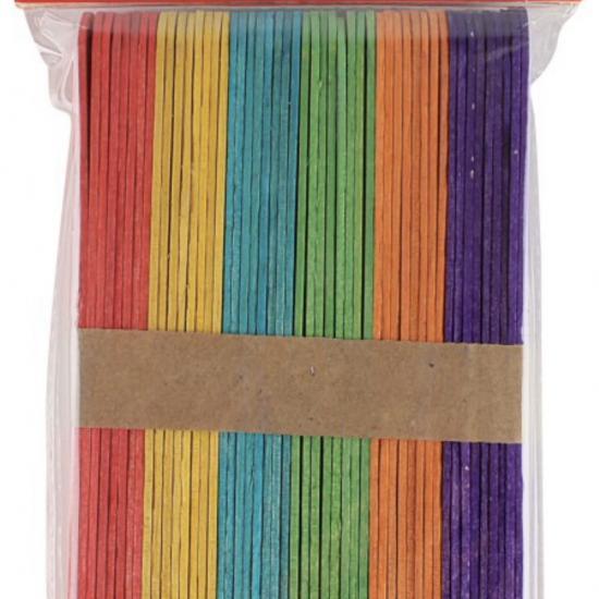 2 Paket Südor Renkli Ahşap Çubuk