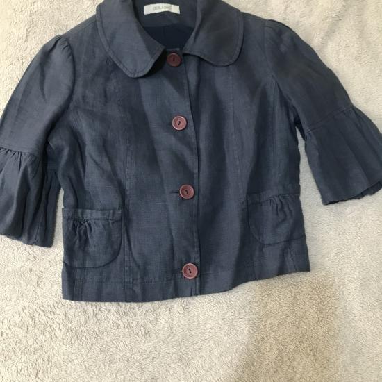 Kısa Keten Yazlık Ceket