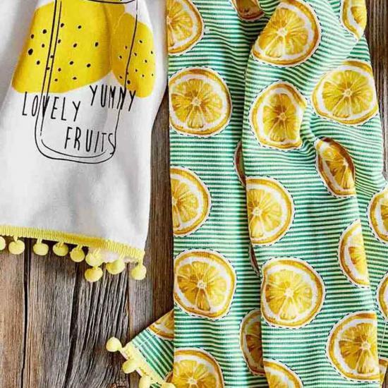 Bella Maison Lemon 2'li Mutfak Havlusu