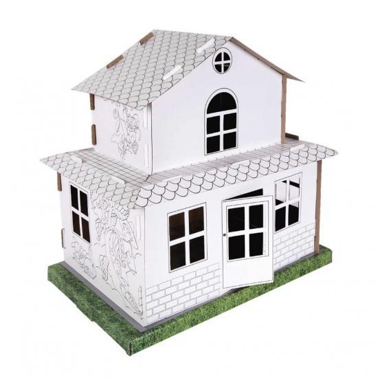 2 Katlı Karton Boyama Evi