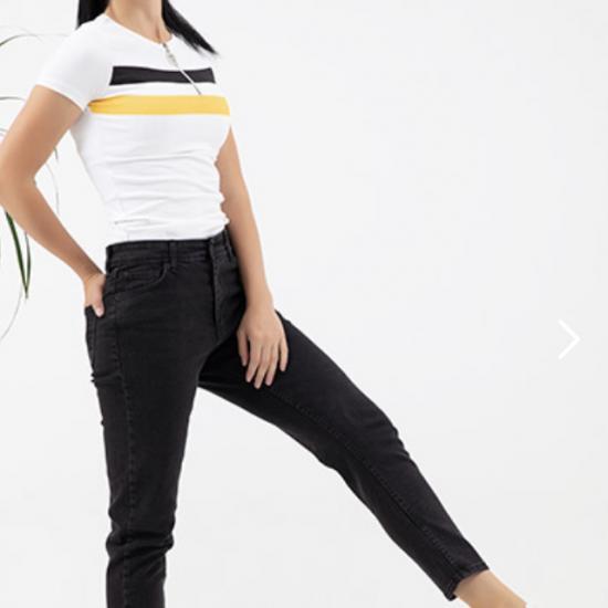 Yüksek bel mom jean pantolon